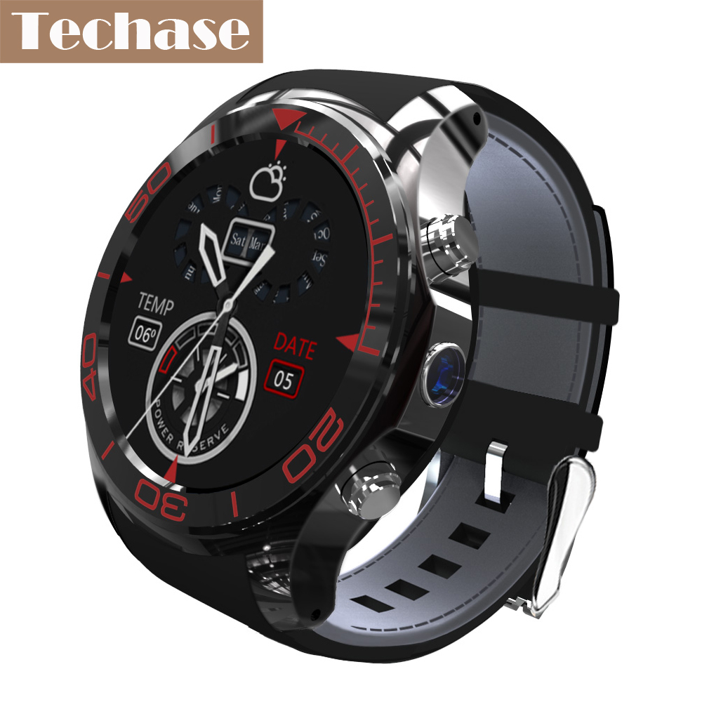 Techase New Arrival Android OS Smart Watch 3G/2G WiFi SIM TF Smartwatch Heart Rate Monitor Relogio GPS Tracker Camera Smartwach