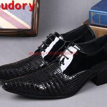 Choudory/Итальянский Элитный бренд туфли-оксфорды; мужские туфли; острый носок и высокий каблук темно-красные мужские торжественное платье свадебные туфли Size12