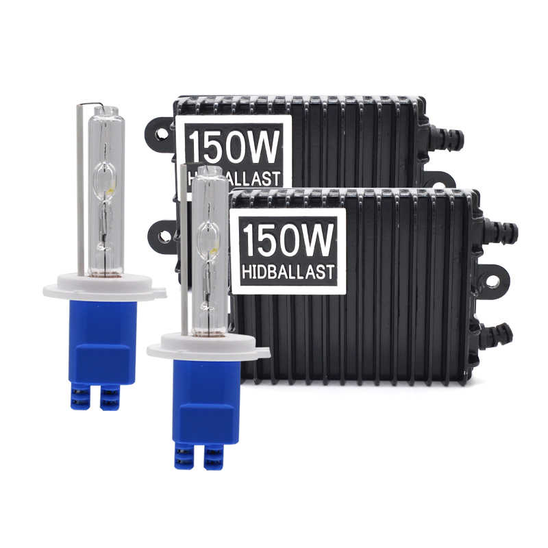 High Power AC 12V 150W HID Ballast Xenon Kit H1 H7 H11 HB3 HB4 D2H Car Headlight Bulb 3000K 4300K 6000K 150W Xenon Ballast Kit