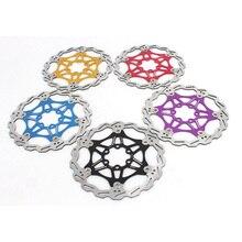 5 Colors Bicycle Disc Brake Pad 160MM/180MM 420 Stainless Steel MTB Bike Floating Rotors Part
