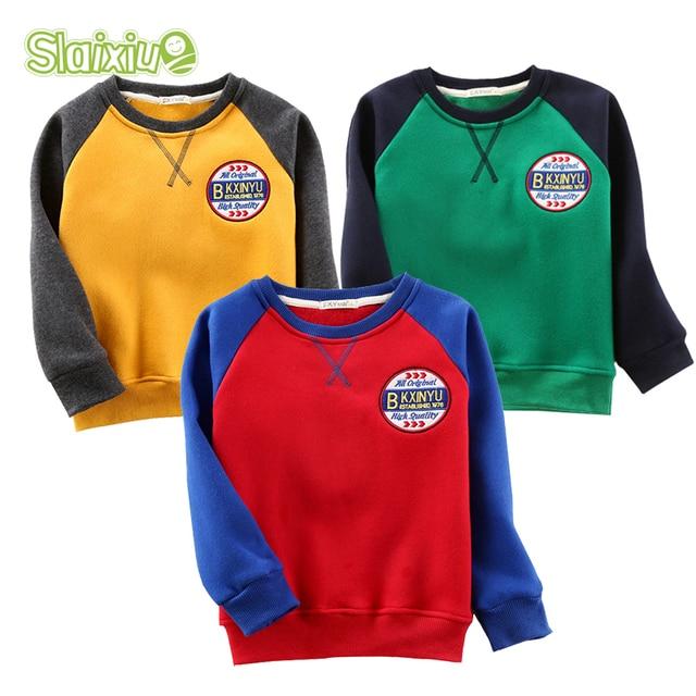 SLAIXIU Cotton Kids T-Shirt Boys Girls Clothe Long Sleeve T Shirts Children Pullovers Boy Girl Tops Kids Tops Children Clothes