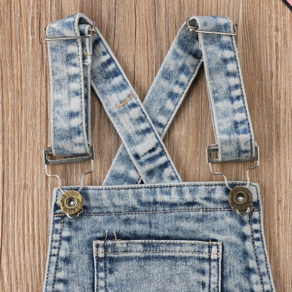 8660f61dd Pudcoco Fancy Popular Suspender Jeans Romper Toddler Kids Baby Girl ...
