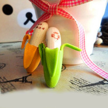 2 pcs/lot Cartoon Kawaii Banana Rubber Eraser Cute School Supplies Toy Material Student Learning Office Supplies banana eraser 2pcs