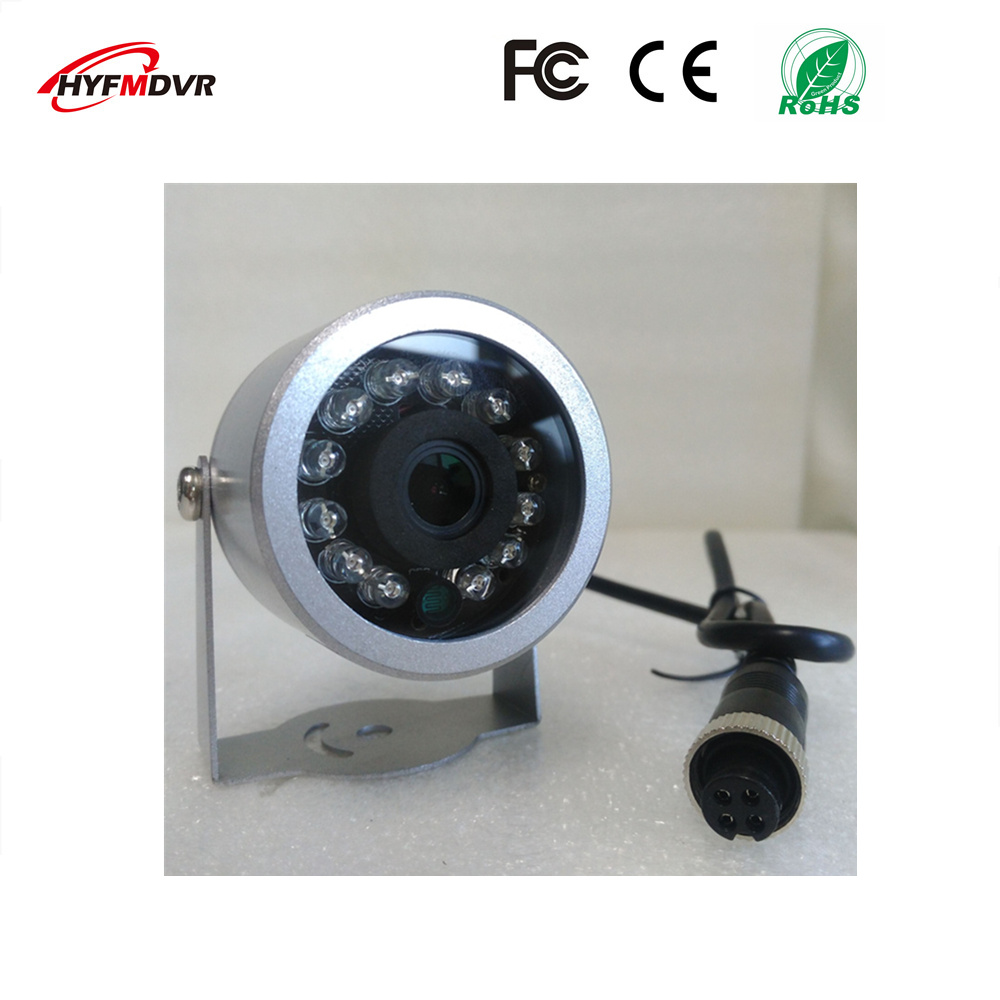 Factory direct freight car 12V wide voltage waterproof camera CMOS / CCD picture sensor metal half ellipse monitoring probe
