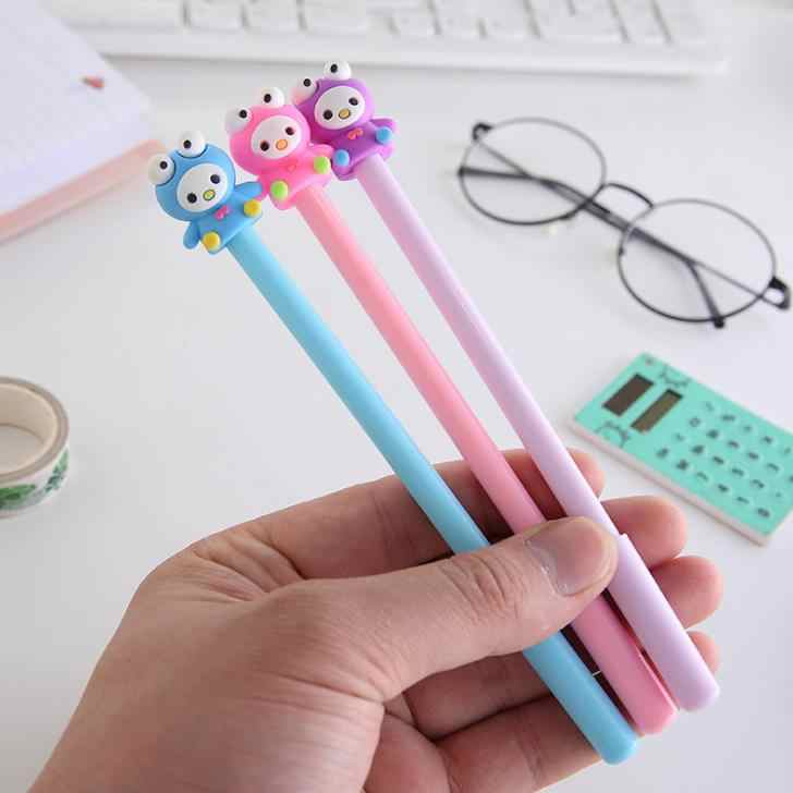 3 шт./компл. каваи большой глаз куклы гелевые ручки 0,5 мм Детские подписи ручка для школы офиса поставка письма корейские канцелярские подарки