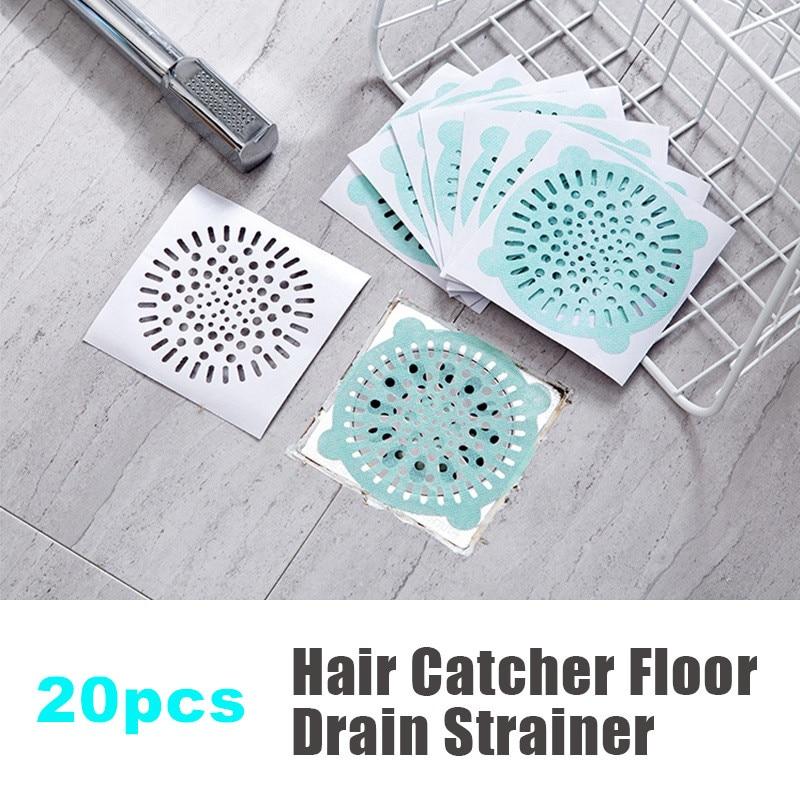 20pc Star Kitchen Sink Drain Strainer Hair Catcher Disposable Shower Bathtub Floor Filter Stopper One-off Bathroom Sink Sticker