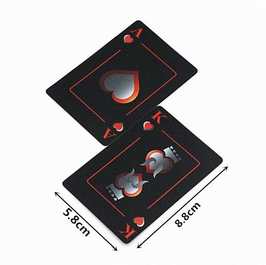 fee50d0e29eaa Черный матовый Водонепроницаемый пластиковые ПВХ карты покер игровой набор колоды  игральных карт Новинка Коллекции Настольная игра