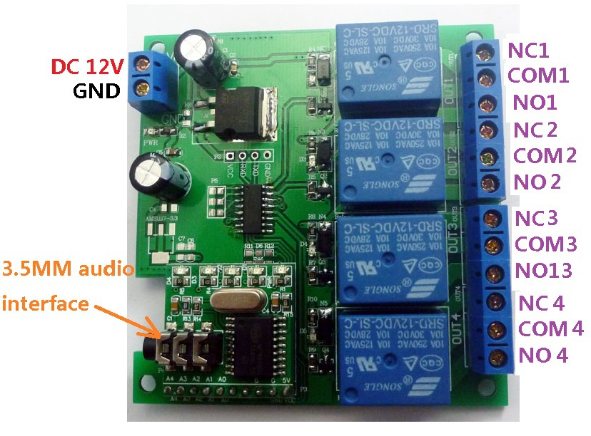 Image 3 - CE023 DC 12V DTMF MT8870 Phone Voice Decoder Control Momentary Toggle Latch Delay Timer Multifunction Relay Remote Module-in Relays from Home Improvement