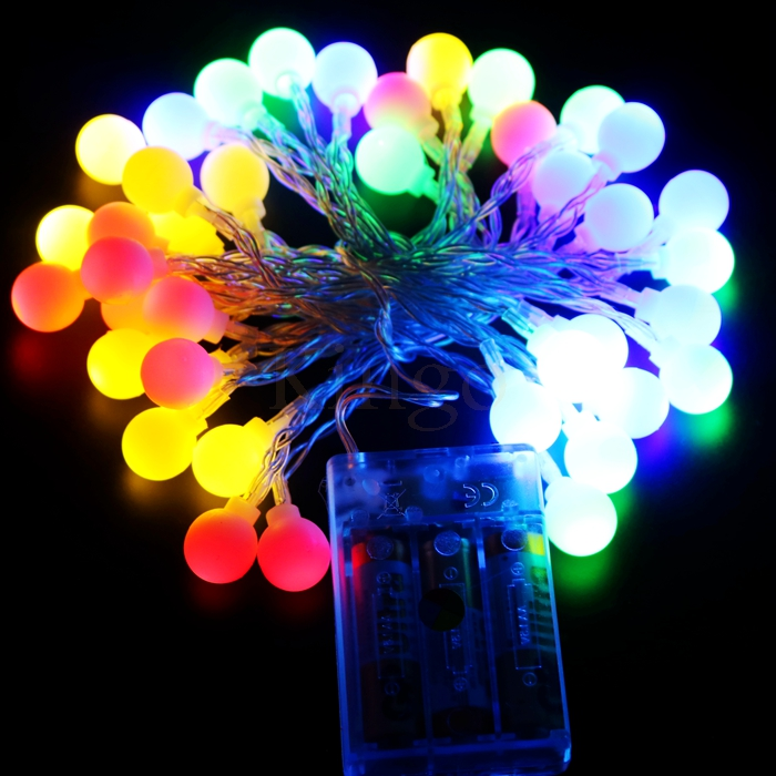 Christmas Led String Light AA Battery Powered Fairy Lights Lamps For Holiday Wedding Party Living Room Outdoor Decoration