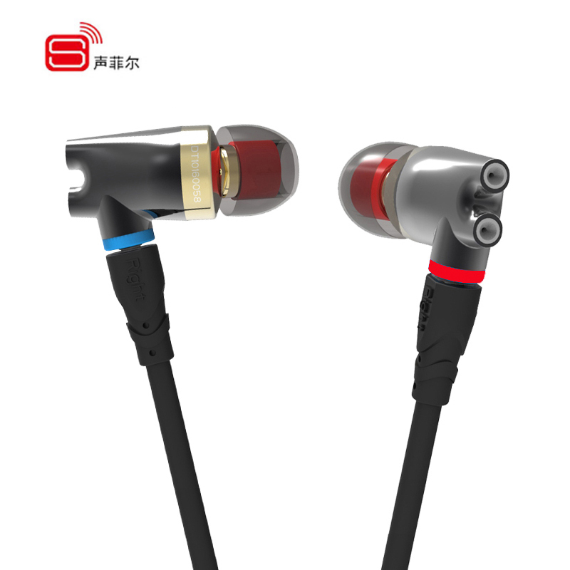 Original SENFER DT2 Plus In Ear earphone Dynamic+2BA Hybrid Drive Headsets Ceramic IE800 HIFI earphones With MMCX Interface 2016 senfer 4in1 ba with dd in ear earphone mmcx headset with upgrade cable silver cable hifi earbuds