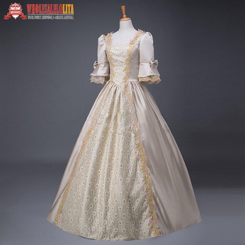 Women's Renaissance Georgian Period Masquerade Princess Dresses Masquerade Ball Gown Reenactment Clothing
