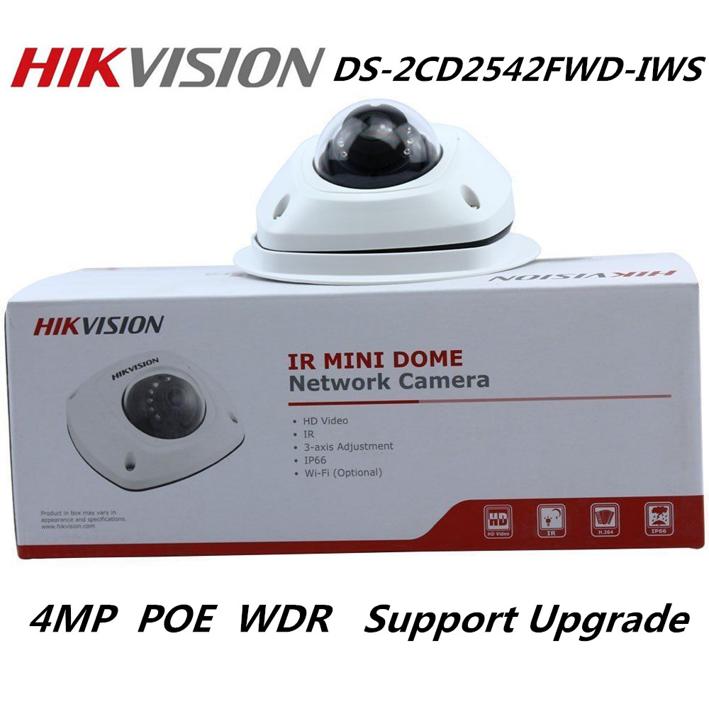 Hikvision international version 4MP DS-2CD2542FWD-IWS IP Camera WDR Mini Dome Network Camera Multi-Language Support upgrade fundamentals of physics extended 9th edition international student version with wileyplus set