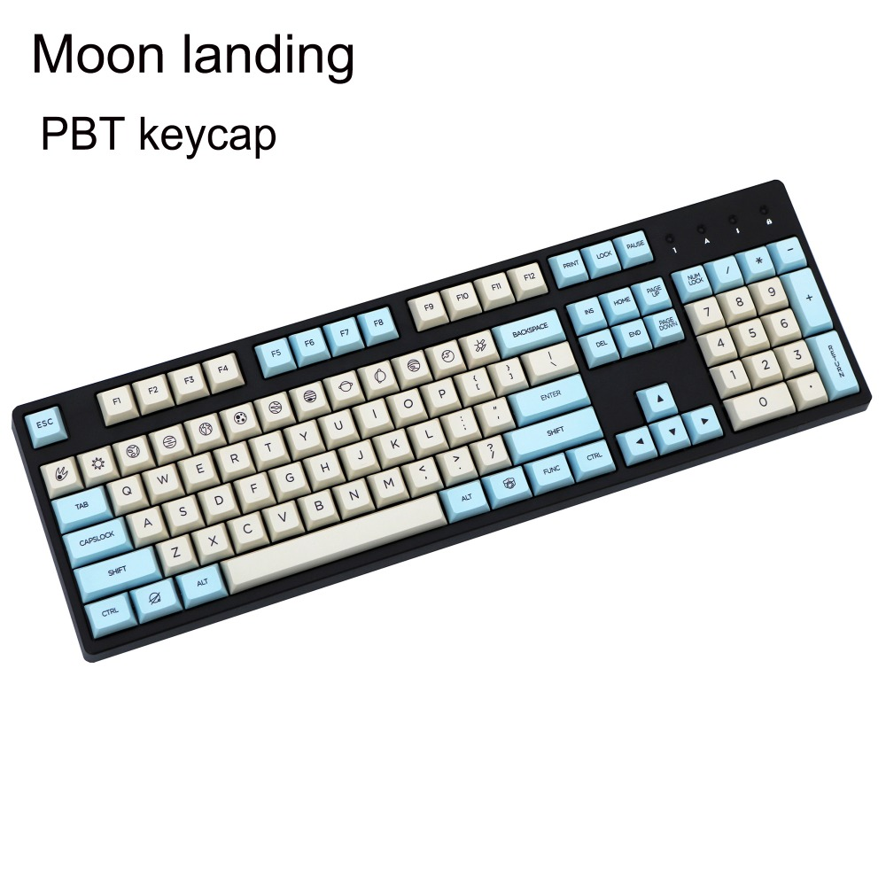 Moon landing XDAS profile keycap 121/163 dye sublimated Filco/DUCK/Ikbc MX switch mechanical keyboard keycap,Only sell keycaps