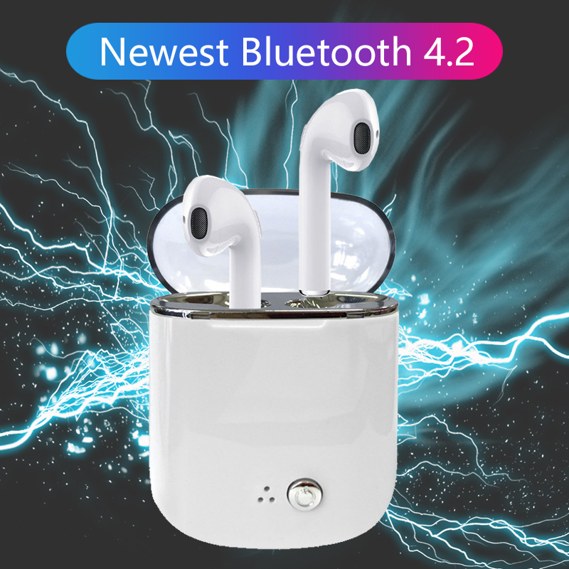 TWS Wireless Bluetooth Headphones In-ear Earphones Sport Stereo Bluetooth 4.2 Headset Earbuds Noise Reduction with Mic for Phone super bass earphone hifi stereo sound 3 5mm earbuds in ear earphones with mic sport running headset for phone