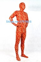 Custom Luxury Pattern Modal Europe Imported Full Body Sexy Transparent Zentai Fetish Costume