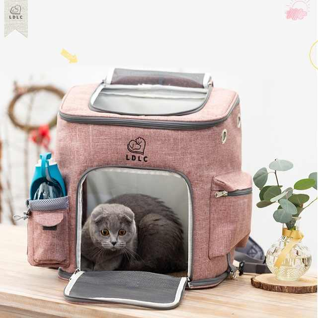 travel bag sports backpack Portable collapsible breathable pet backpack medium cat dog out of the bag cat backpacks bag