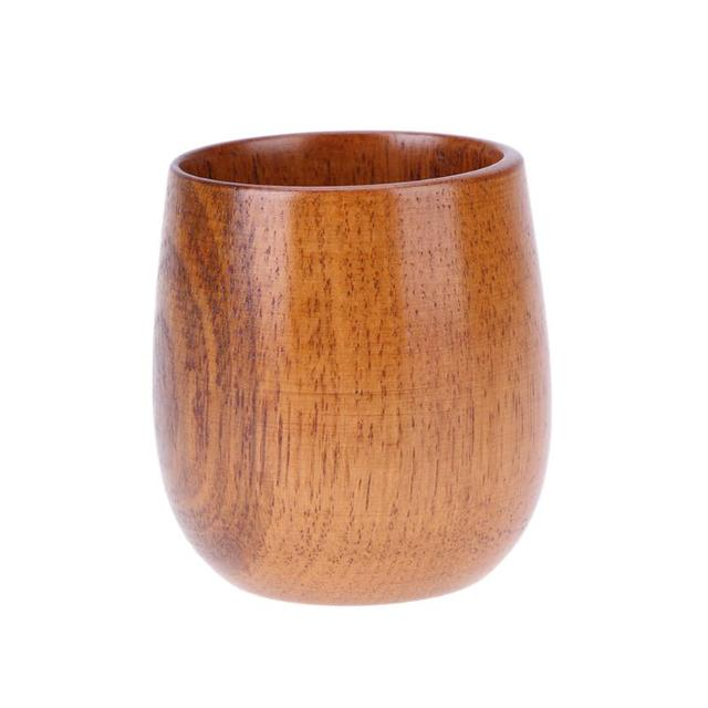 Retro Natural Wooden Coffee Cup