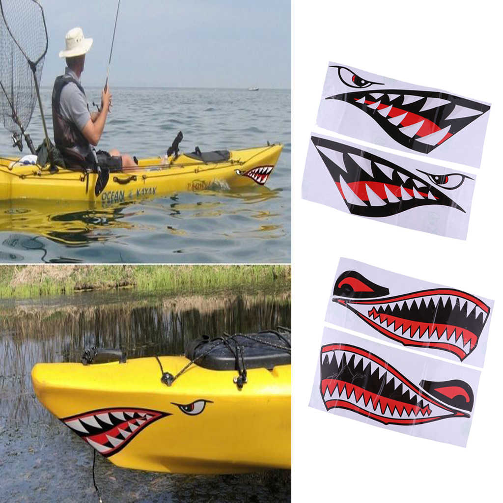 2pcs Reflective Diving Stickers Car Boat Kayak Decals Waterproof Stickers
