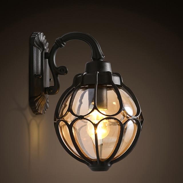 led e27 Loft  Iron Round Ball LED Lamp LED Light Wall lamp Wall Light Wall Sconce For Bar Store Foyer Bedroom Corridor Lobby