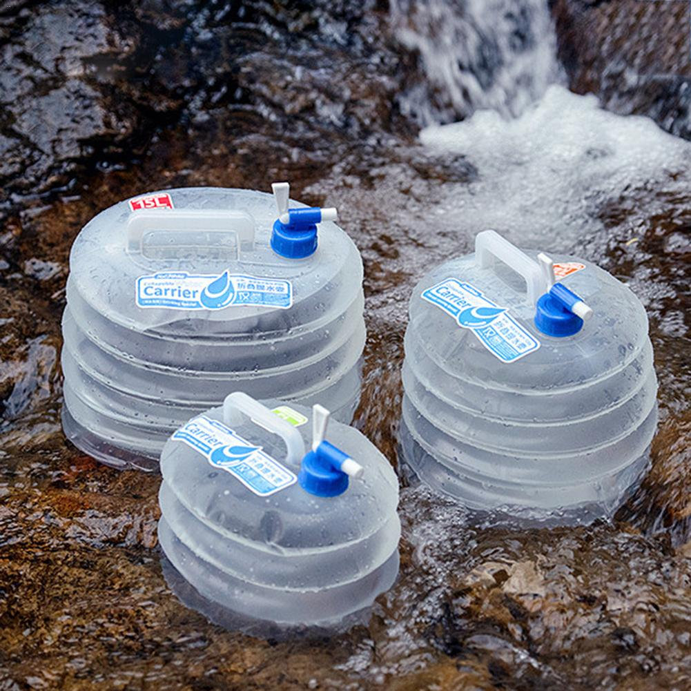 5L/10L/15L Outdoor Camping Weiche Glaskolben Wasser Behälter Eimer Tasche Lagerung Pack Tragbare Wasser Tank Mit Leitungs
