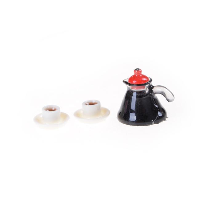 Doll House Miniature Coffee Pot Set 3 pcs Set