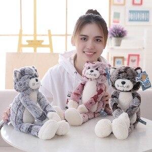 Image 3 - 50 cm 90 cm 고양이 플러시 장난감 검은 회색 고양이 플러시 장난감 사랑스러운 애니메이션 고양이 인형 어린이를위한 생일 선물 고양이 인형