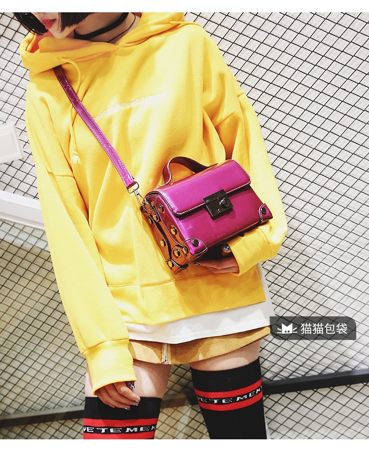 Brand Fashion Casual Women Shoulder Bags Silver Gold Patent leather Handbag PU Leather Female Big Tote Bag Ladies Hand Bags Sac 4