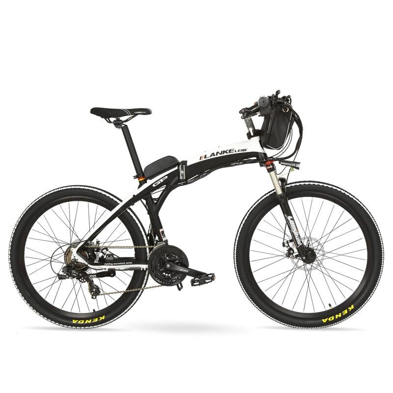 "GP 26"" 240W E Bike Quick-Folding Mountain Bicycle, 48V 12Ah Battery Electric Bike, Suspension Fork,Both Disc Brake"