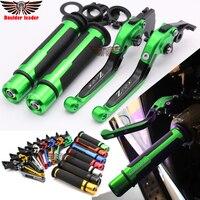 For Kawasaki Z750 Z 750 2007 2008 2009 2010 2011 2012 Motorcycle Adjustable Folding Brake Clutch Levers Handlebar Hand Grips