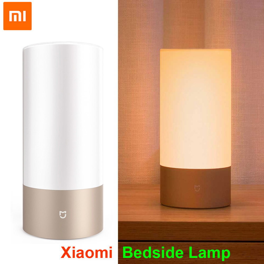 цена Xiaomi Mijia Smart Bedside Lamp Light Bluetooth WiFi LED Light Smart Indoor Night Light Touch Control Smart App Control