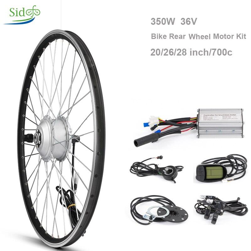 36 V 350 W Controlador Bicicleta Elétrica Kit de Conversão de Bicicleta Hub 20