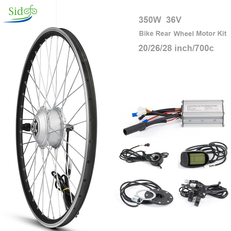 36 V 350 W Electric Controller Bike Conversion Kit Bicycle Hub 20262728700 c Bicycle Motor Rear Wheel LCD 5 BLDC Kit
