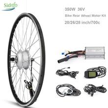Комплект для переоборудования велосипеда, 36 В, 350 Вт, 20/26/27, 5/28 дюйма, 700 c
