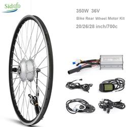 36V 350W kontroler elektryczny zestaw do konwersji roweru piasta rowerowa 20/26/27.5/28 cal 700 c rowerów tył silnika koło przednie LCD 5 BLDC w Silniki do rowerów elektrycznych od Sport i rozrywka na