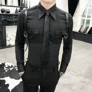 Image 2 - סתיו חדש הגעה מזדמן עסקי גברים שמלת חולצות יוקרה מקרית ארוך שרוול באיכות גבוהה זכרים חולצות חברתיות Camisa Masculina