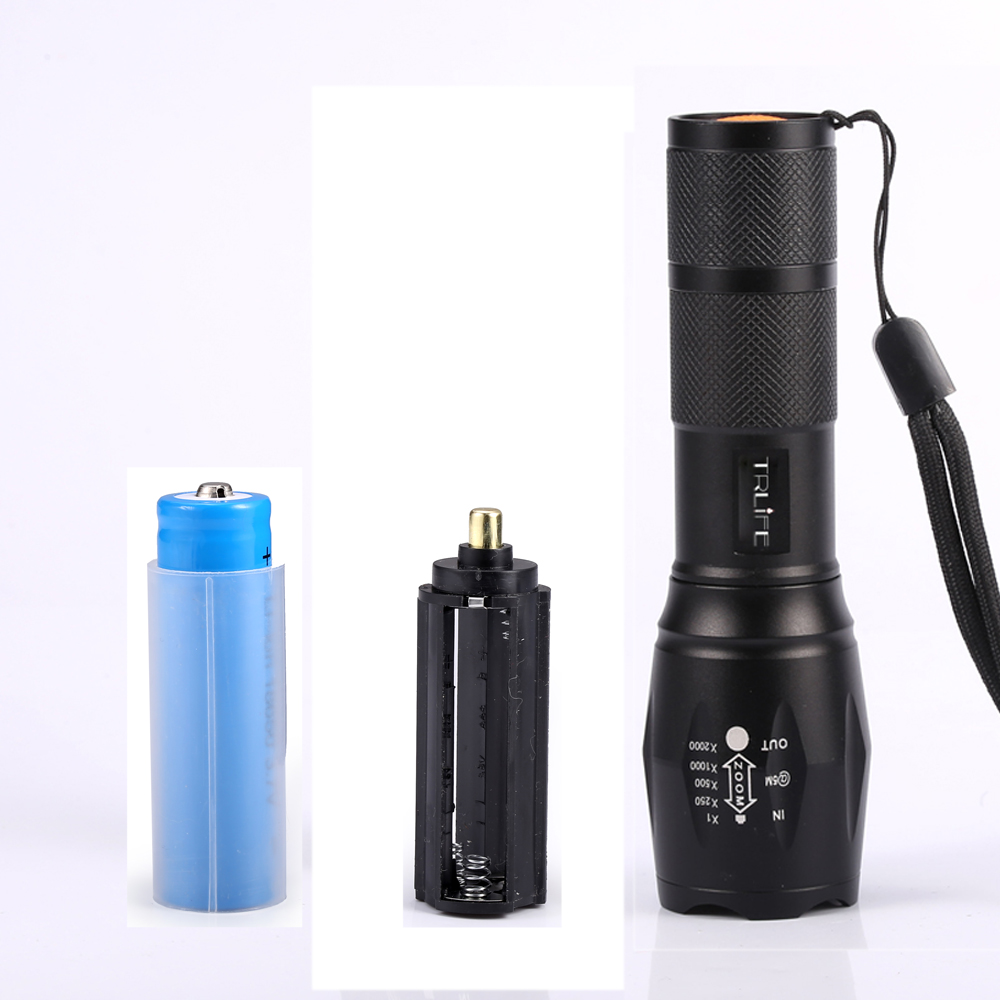 Lumens LED Camping Flashlight battery