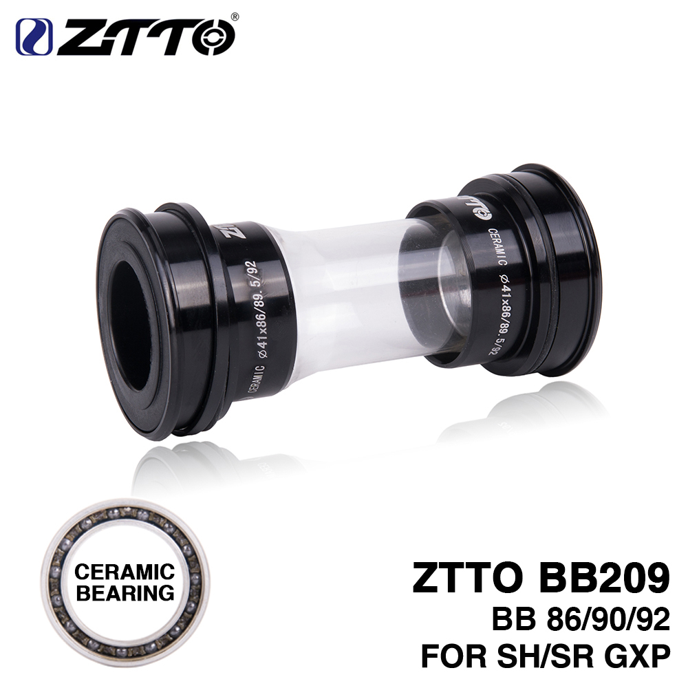 ZTTO CERAMIC BB209 BB92 BB90 BB86 Press Fit Bottom Brackets for Road Mountain bike Shimano 24mm Crankset SRAM GXP 22mm chainset standard schnauzer