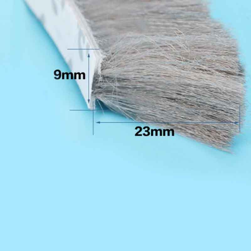 9mm x 23mm self adhesive window door brush seal strip weatherstrip draught excluder