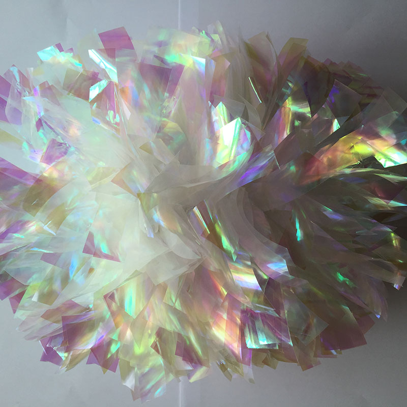 Do not Fade Piece Cheerleader Pom poms Baton Handle Fire Rainbow Color