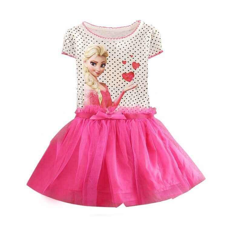 Bayi Gadis Elsa Dress Putri Anna Kostum Anak Cosplay Gaun Pesta Anna Elza Vestidos Bayi untuk Anak-anak