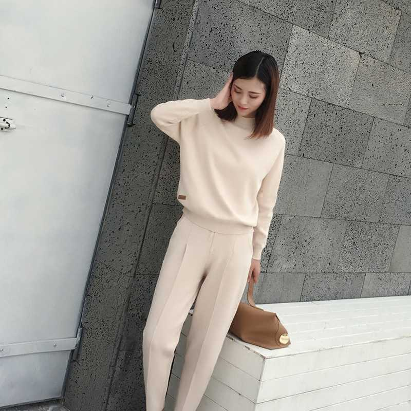 e871bfff7f8e Hot Sale Tracksuits New Arrival Full Spring 2018 Women's Fashion Casual  Loose Two-piece Sweater