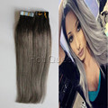 Tape Ombre Hair Extensions Brazilian Remy Hair Balayage Tape In Hair Extension 1B/Grey Deals Real Hair BY251