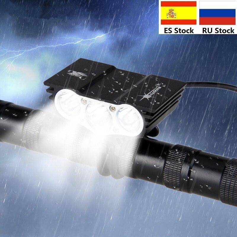SolarStorm 1500 Lm 3 T6 contas lâmpada LED Cabeça Pacote MTB Frente Bicicleta Luz Da Bicicleta luz do Farol com Bateria