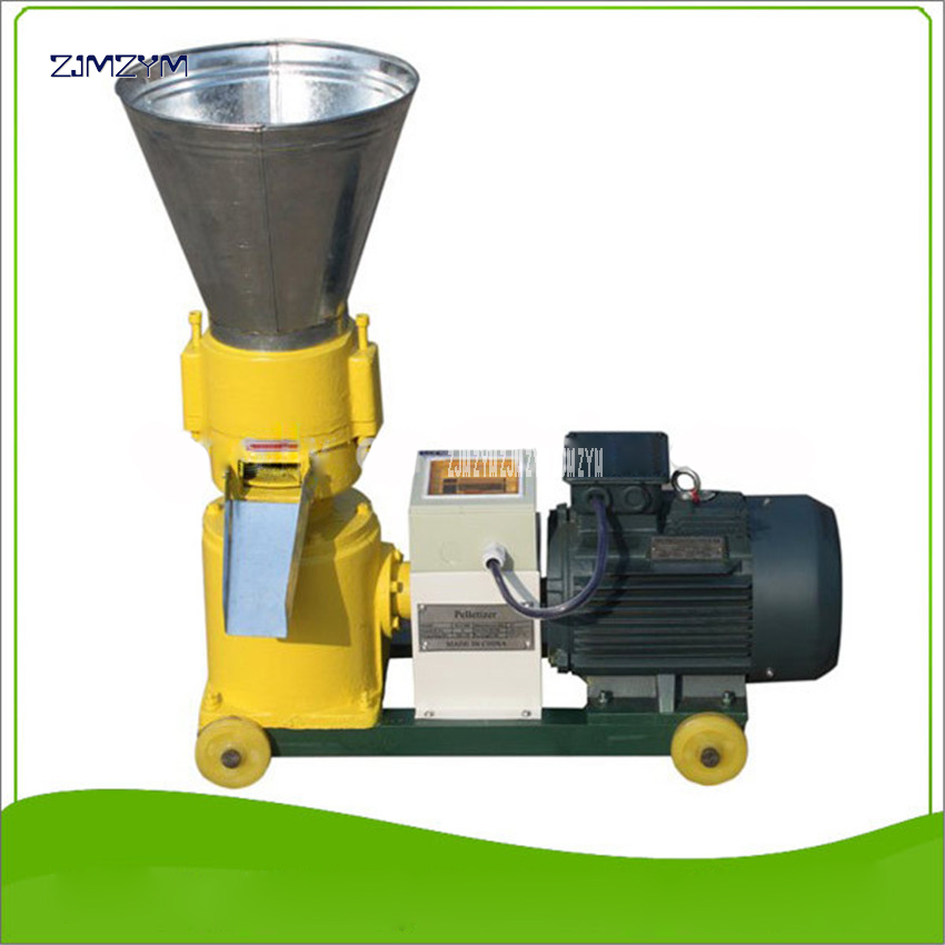 WKL120B Pellet Machine 60 100kg/h 2.2KW/3KW Wood Pellet Mill 220v/380v 50Hz Food Granulator Animal Feed Particle Pelletizer