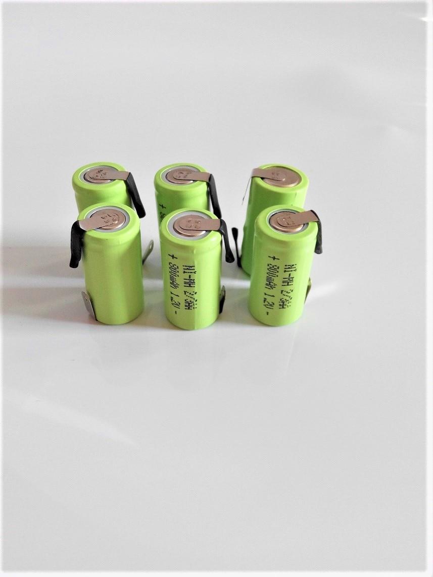New battery 6PCS 2/3aa 800mah 1.2v Ni-MH rechargeable battery 2/3AA1.2V Superman razor battery