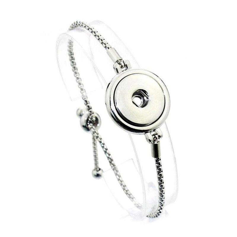 Bo Bo world Newest Adjustable Snap Button Bracelet Metal European & American Charms Bracelet For Women 18mm Snap Button Jewelry