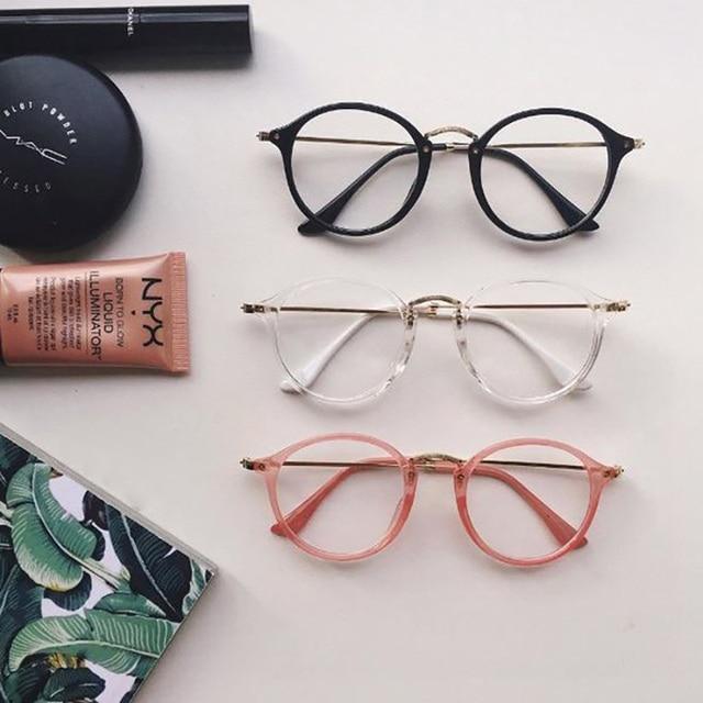 очки прозрачные Нг Ulz для za винтаж металл краткое все матч HARAJUKU мягкий очки любителей круг кадр sunglasses women
