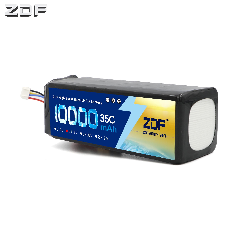 ZDF RC Lipo Battery 10000mAh 2S 3S 4S 5S 6S 7 4V 11 1V 14 8V