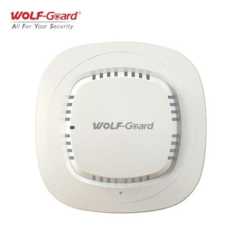 Wolf-Guard Wireless Smoke Detector Home Automation Sensor Security Alarm System 5 pcs wireless glass break sensor shake detector shock sensor for home alarm systems vibrate sensor for security guard