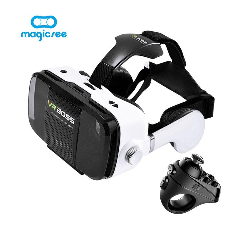 <font><b>VR</b></font> BOSS 3D Virtual Reality <font><b>Glasses</b></font> <font><b>VR</b></font> Box +Magicsee R1 Bluetooth 4.0 Wireless remote Game pad <font><b>For</b></font> IPhone Android <font><b>smart</b></font> <font><b>phone</b></font>